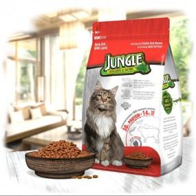جانگل غذا خشک گربه با طعم گوشت بره 1.5 کیلوگرم