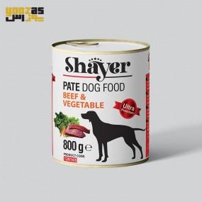 کنسرو سگ شایر با طعم گوشت قرمز و سبزیجات 800 گرمی