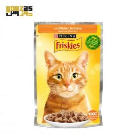سوپ گربه بالغ فریسکیز با طعم مرغ وزن 85 گرمی