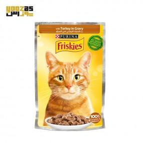 سوپ گربه بالغ فریسکیز با طعم بوقلمون وزن 85 گرمی