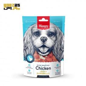 غذای تشویقی سگ ونپی مدل دمبلی با طعم مرغ 100 گرمی