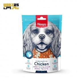غذای تشویقی سگ ونپی مدل استخوان با دور پیچ مرغ 100 گرمی