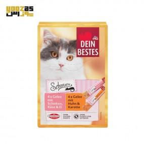 بستنی گربه دین بستس با طعم تخم مرغ، ژامبون، پنیر و هویج در بسته بندی 8 عددی