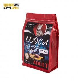 غذای خشک گربه بالغ لوکا با طعم گوشت وزن 1.5 کیلویی