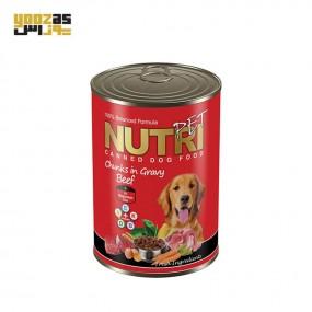 کنسرو سگ نوتری با طعم بیف 425 گرمی