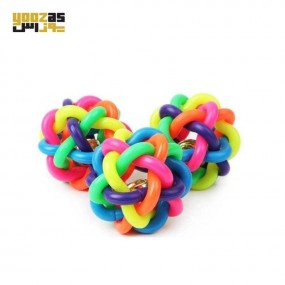 اسباب بازی گربه توپ رنگین کمان یا ماکارونی