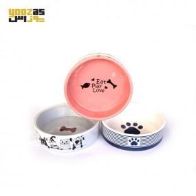 ظرف آب و غذا سرامیکی سگ و گربه