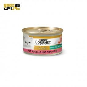 کنسرو گورمه گلد با طعم ماهی و گوجه فرنگی 85 گرم